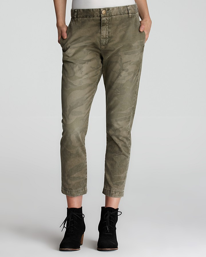 Current/Elliott Pants - The Buddy Trouser in Army Camo
