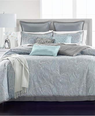 Martha Stewart Collection Paisley Plume Blue 14-Pc. Queen Comforter Set