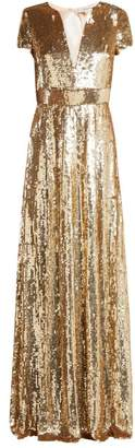 Temperley London Ray Sequined Gown - Womens - Gold