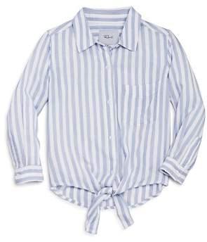 Rails Girls' Valerie Striped Tie-Front Shirt - Big Kid