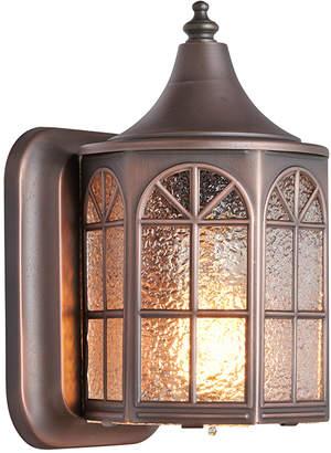 Rejuvenation Petite Entry Sconce w/ Textured Glass Panels