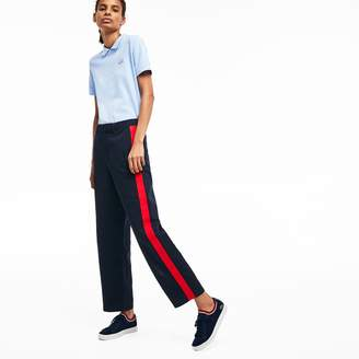 Lacoste Women's LIVE Loose Fit Cotton Chinos