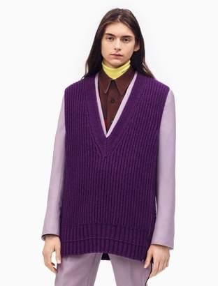 Calvin Klein oversized v-neck knit sweater vest