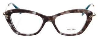 Miu Miu Cat-Eye Acetate Eyeglasses w/ Tags