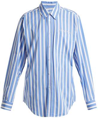 Martine Rose Striped cotton shirt