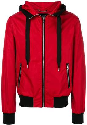 Dolce & Gabbana contrast trim hooded jacket