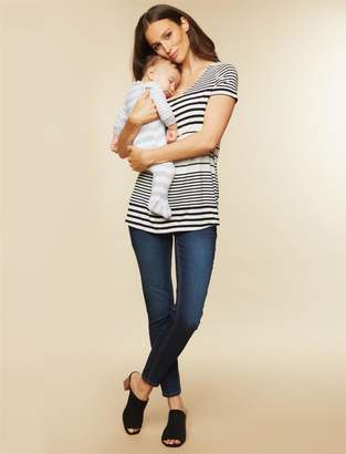 Motherhood Maternity BOUNCEBACK French Terry Skinny Post Pregnancy Jeans