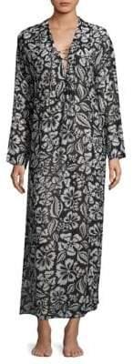 Mikoh Hele Lace-Up Maxi Dress