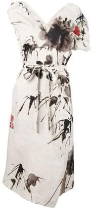 Vivienne Westwood floral print slit dress