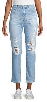 AG Jeans Phoebe Vintage High-Waisted Distressed Jeans