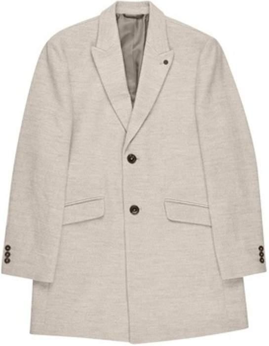 Womens **Burton Grey Faux Wool Chesterfield Overcoat