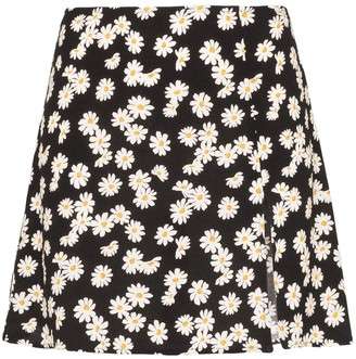 Reformation Margot daisy print mini skirt