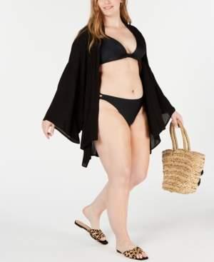 Raisins Curve Trendy Plus Size Chita Kimono Cover-Up Women's Swimsuit
