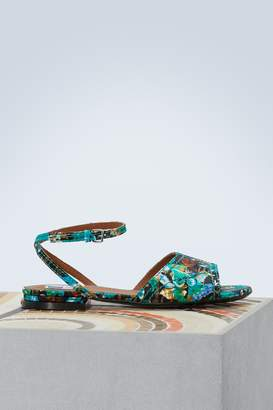 Kenzo Leather flat Daria sandals