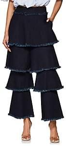 Osman Women's Tiered Flounce Jeans - Blue