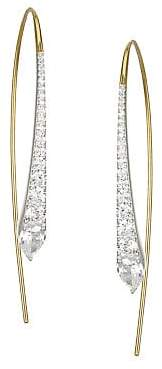 Adriana Orsini Devona Rhodium& Gold-Plated Sterling Silver Cubic Zirconia Linear Earrings