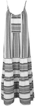 Velvet by Graham & Spencer Sharon Geometric-jacquard Cotton Dress