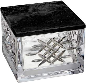 Waterford Lismore Revolution Lead Crystal Box with Marble Lid