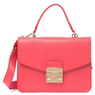 Furla Metropolis Top Handle Leather Shoulder Bag