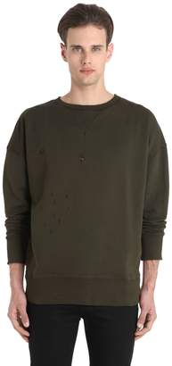 Faith Connexion Distressed Cotton Sweatshirt