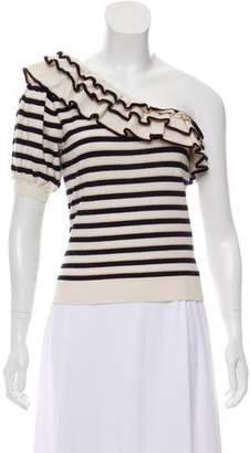 Ulla Johnson Striped One-Shoulder Sweater