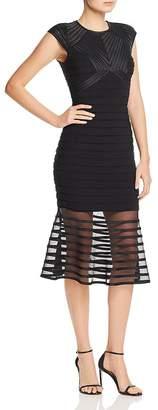 Aqua Power-Mesh Striped Dress - 100% Exclusive