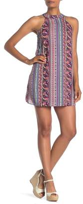 Papillon Halter Neck Boho Print Dress