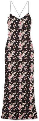 Joseph A Eywasouls Malibu - Josepha Open-back Floral-print Cotton-voile Maxi Dress - Black