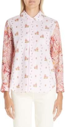 Comme des Garcons Floral Print Cotton Shirt