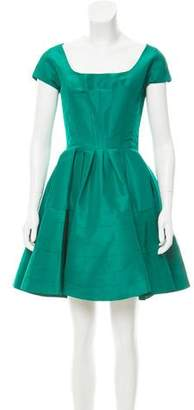 Zac Posen Flared Short Sleeve Dress