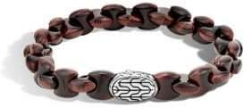 John Hardy Sterling Silver Red Tiger Eye Bracelet