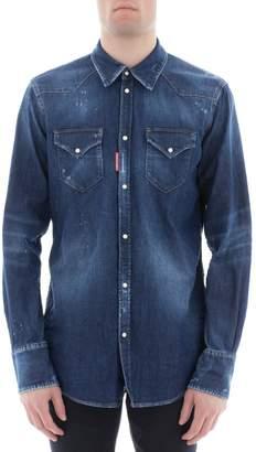 DSQUARED2 Blue Cotton Shirt