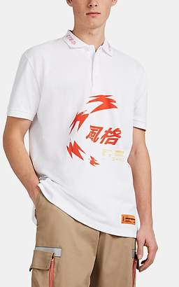 Heron Preston Men's Graphic Piqué Polo Shirt - White