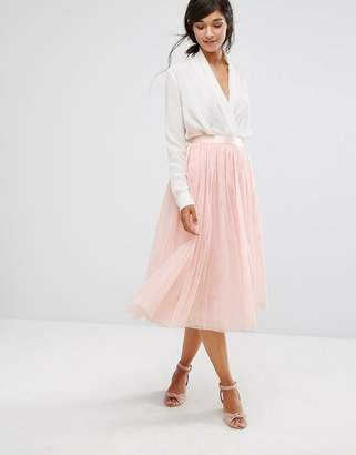Oasis Tulle Midi Skirt $76 thestylecure.com