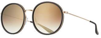 Barton Perreira Joplin Round Metal-Rim Sunglasses