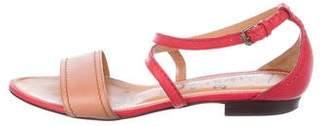 Lanvin Leather Ankle-Strap Sandals