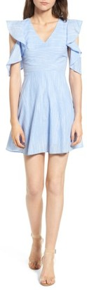 Women's J.o.a. Cotton Cold Shoulder Skater Dress $79 thestylecure.com