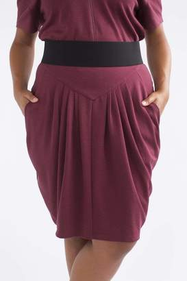 See Rose Go Pleated Skirt in Burgundy Size 1 Polyester