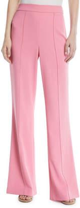 Alice + Olivia Jalisa High-Waist Fitted Flared Pants