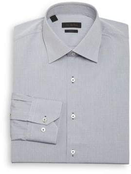 Saks Fifth Avenue COLLECTION Regular-Fit Micro Checked Dress Shirt