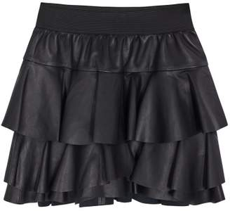 Little Remix Erin Leather Skirt