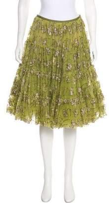 Lanvin Glitter-Embellished Tulle Skirt
