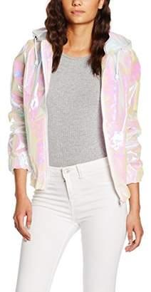boohoo Women's Alisha Holigraphic Festival Bomber Long Sleeve Jacket,(Manufacturer Size:Small)