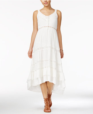 American Rag Crochet-Trim High-Low Maxi Dress, Only at Macy's $69.50 thestylecure.com