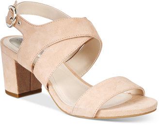 Alfani Women's Regann Block-Heel Sandals, Only At Macy's $69.50 thestylecure.com