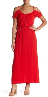 Loveappella Cold Shoulder Maxi Dress