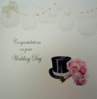 DAY Birger et Mikkelsen WHITE COTTON CARDS Code PD29 Congratulations On Your Wedding Handmade Wedding Card