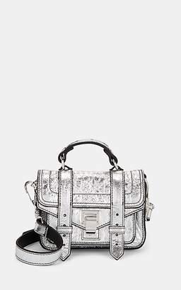 Proenza Schouler Women's PS1 Tiny Leather Crossbody Bag - Silver