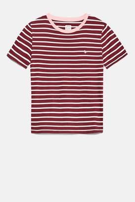 Jack Wills tealgate stripe ringer t-shirt