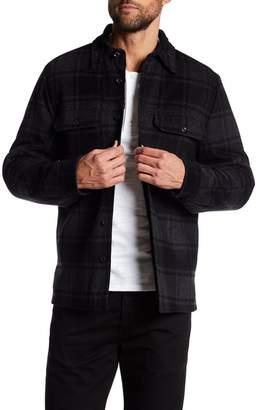 VINCE. Plaid Military Shirt Wool Blend Jacket $395 thestylecure.com